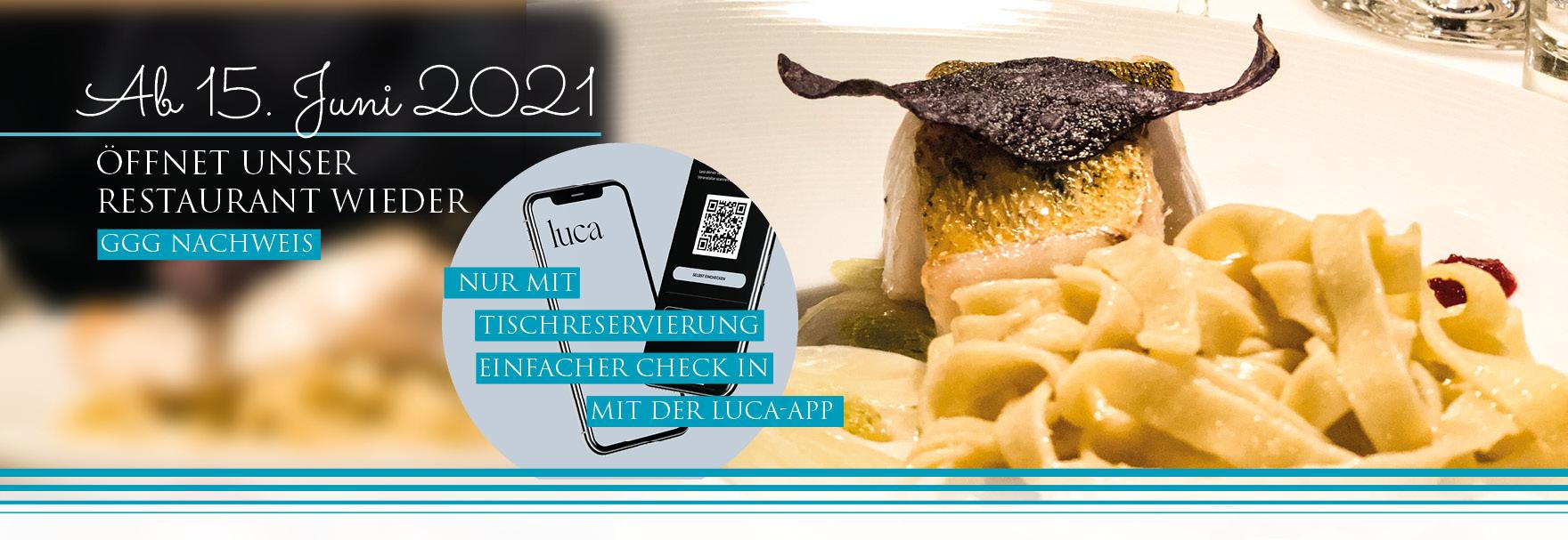 Restauranteröffnung mit Luca-App GGG Nachweis