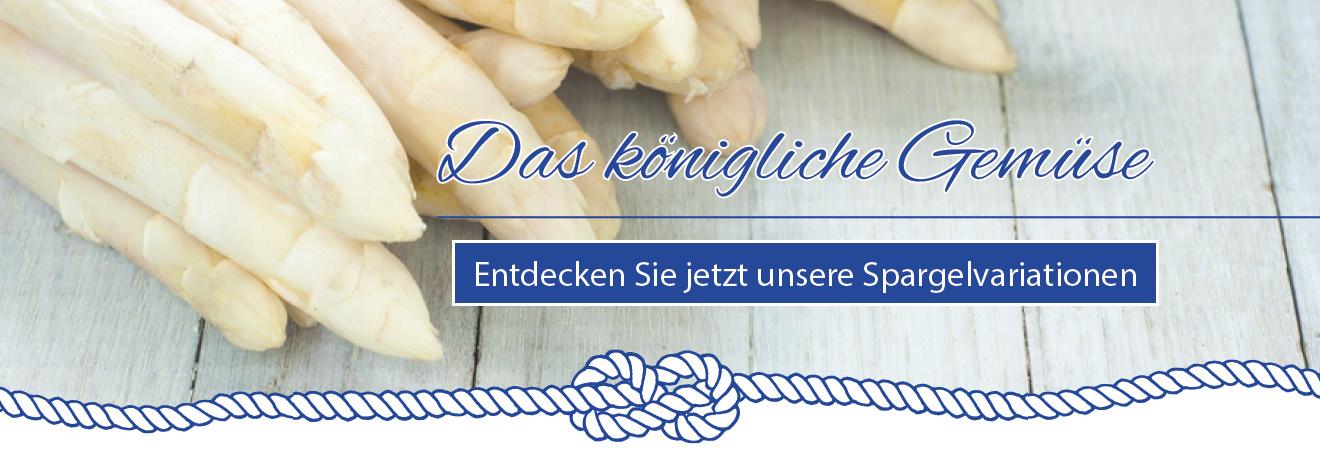 Spargel im Restaurant Steuermann